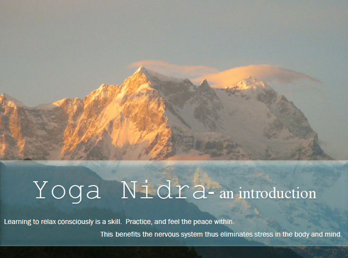 Yoga Nidra an introduction with Maryon Maass Photography: Mt. Chaukumba, Northern India © Maryon Maass